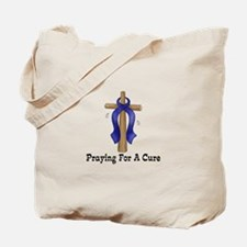 Blue Ribbon Prayer Tote Bag