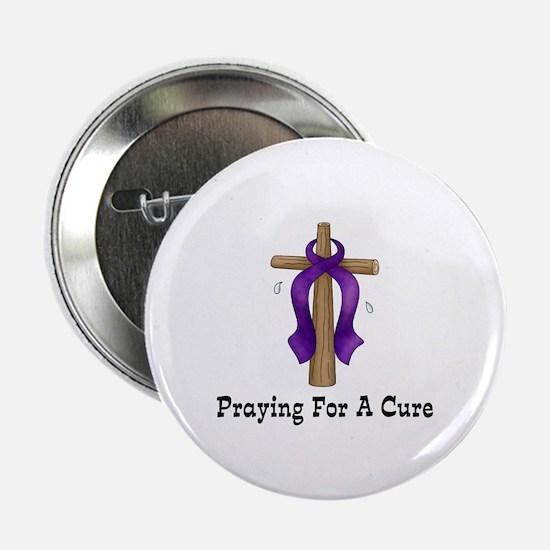 """Purple Ribbon Prayer 2.25"""" Button"""