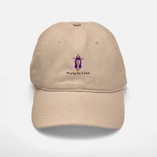 Purple Ribbon Prayer Baseball Baseball Cap