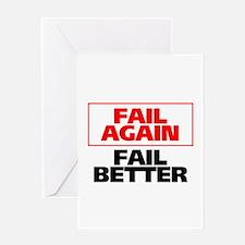 Fail Better Greeting Card