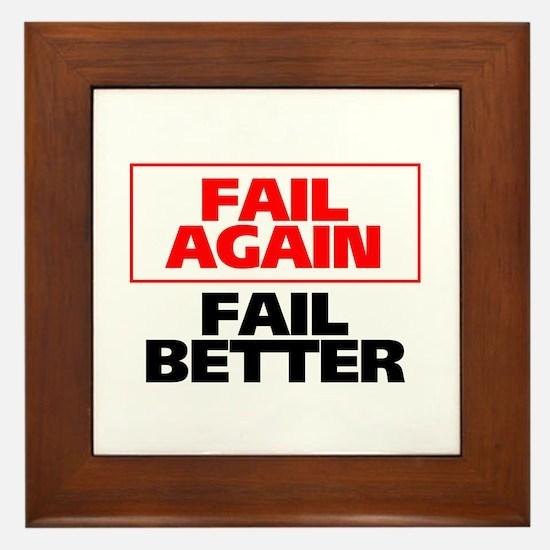 Fail Better Framed Tile
