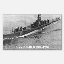 USS DIABLO Rectangle Decal