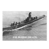 Submarine uss diablo Postcards