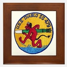 USS DIABLO Framed Tile