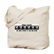 Chinese Cresteds: Punk Rocker Tote Bag