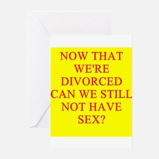 funny divorce joke Greeting Card