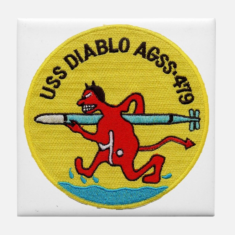 USS DIABLO Tile Coaster