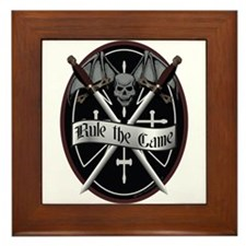 Rule The Game Framed Tile