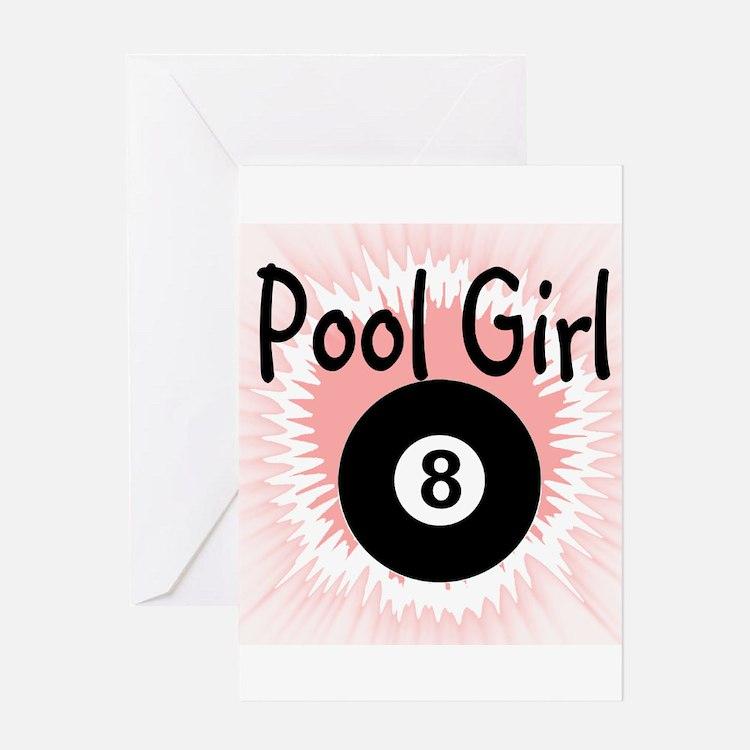 Cute 8 ball Greeting Card