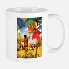Jack Frost Painting Autumn Leavs Mug