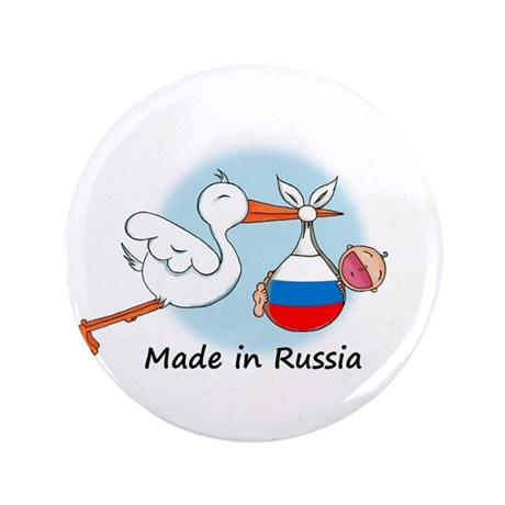 """Stork Baby Russia 3.5"""" Button"""
