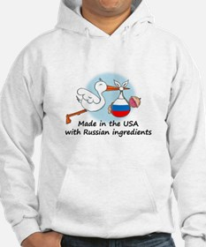 Stork Baby Russia USA Hoodie