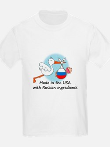 Stork Baby Russia USA T-Shirt
