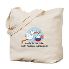 Stork Baby Russia USA Tote Bag