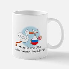 Stork Baby Russia USA Mug