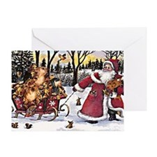 Sleigh Vintage Greeting Card