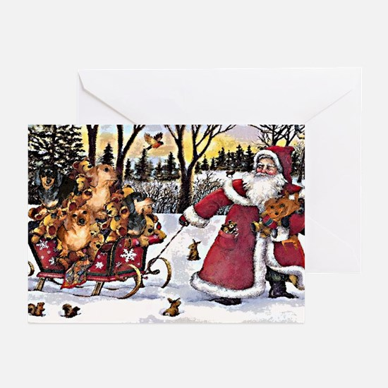 Sleigh Vintage Greeting Cards (Pk of 20)