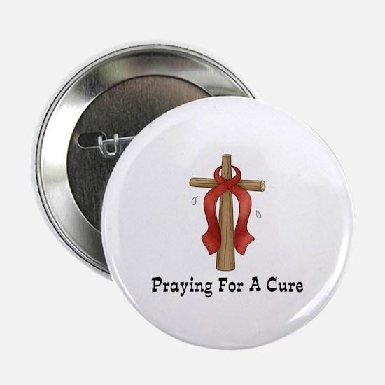 "Red Ribbon Prayer 2.25"" Button"