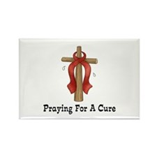 Red Ribbon Prayer Rectangle Magnet