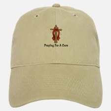 Red Ribbon Prayer Baseball Baseball Cap