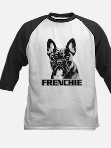 Frenchie - Brindle Monochrome Kids Baseball Jersey