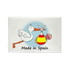 Stork Baby Spain Rectangle Magnet
