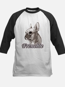 Frenchie - Creme Monochrome Kids Baseball Jersey