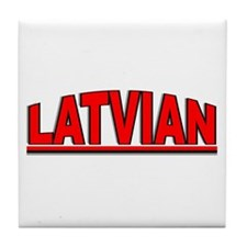 """Latvian"" Tile Coaster"