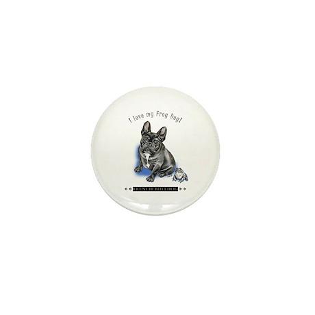 Frog Dog (Brindle Boy) Mini Button
