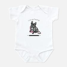Frog Dog (Brindle Girl) Infant Bodysuit