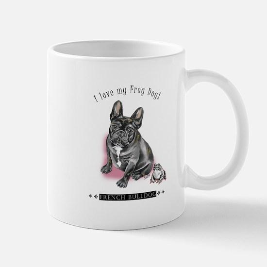 Frog Dog (Brindle Girl) Mug