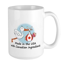 Stork Baby Canada USA Mug