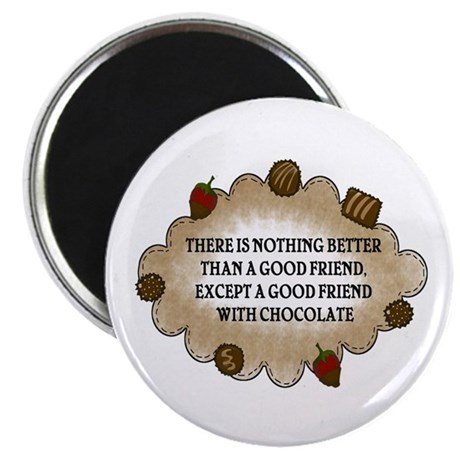 """Friends With Chocolate 2.25"""" Magnet (100 pack)"""