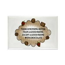 Friends With Chocolate Rectangle Magnet (100 pack)