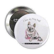 """Frog Dog (Cream Girl) 2.25"""" Button"""
