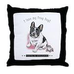 Frog Dog (Pied Girl) Throw Pillow