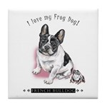 Frog Dog (Pied Girl) Tile Coaster