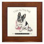Frog Dog (Pied Girl) Framed Tile