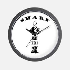 sharp skinhead Wall Clock