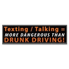 Texting and Talking = Drunk Driving Car Sticker