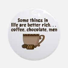 Coffee Chocolate & Men Ornament (Round)