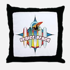 Venice Beach Throw Pillow