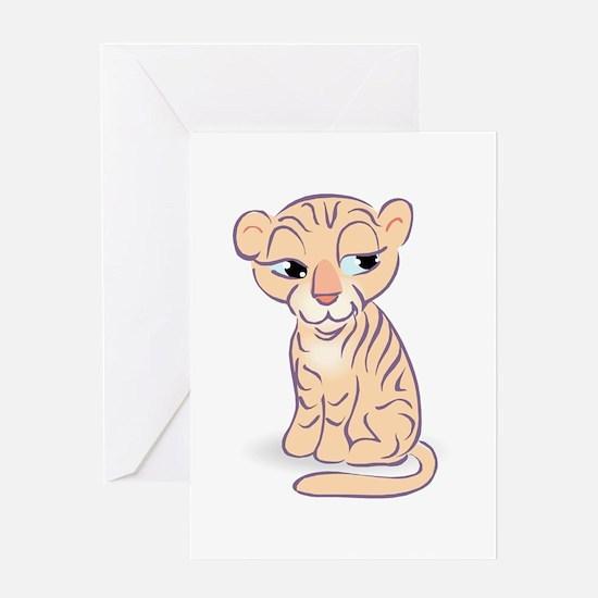 Tiger Three Greeting Card