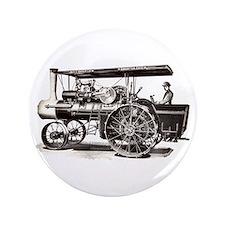 "Baker Steam Tractor - 3.5"" Button"