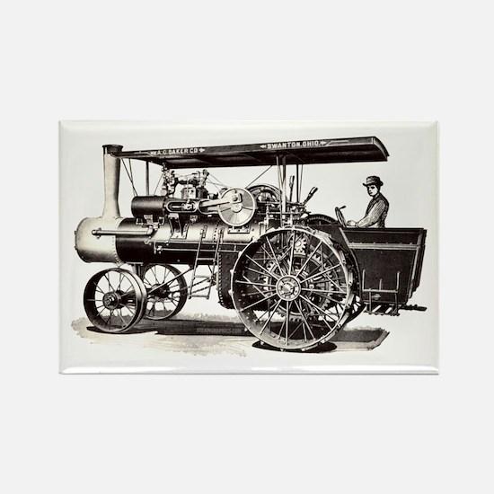 Baker Steam Tractor - Rectangle Magnet