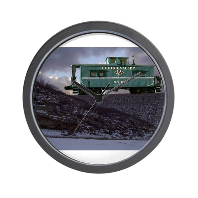 Lehigh Valley Caboose Wall Clock by franknbeanLLC8
