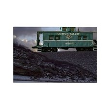 Lehigh Valley Caboose Rectangle Magnet
