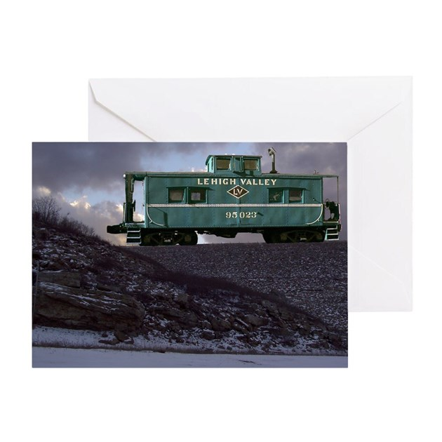 Lehigh Valley Caboose Greeting Card by franknbeanLLC8