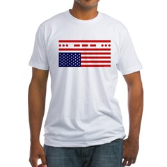 SOS Distress American Flag Fitted T-Shirt