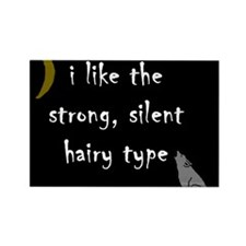 New Moon Strong Silent Hairy Rectangle Magnet (10